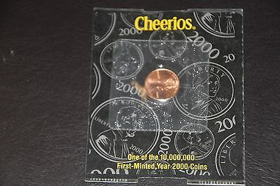 2000 Cheerios  Uncirculated Philadelphia Lincoln 1-Cent Penny Cert Of Authentic