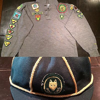 Vintage Boy Scouts of Canada Uniform with wolf cubs hat