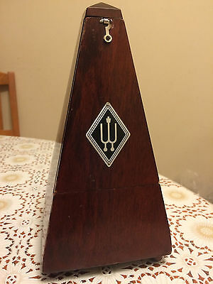 Wittner Made in Germany Traditional Metronome: Mahogany Finished Wood