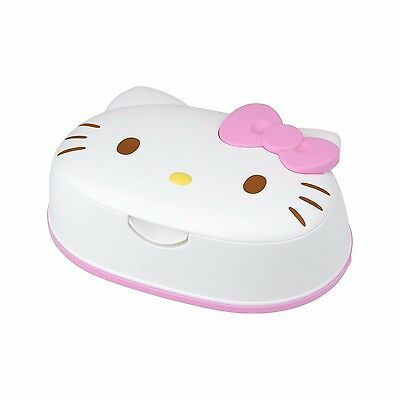 NEW Sanrio Hello Kitty wet tissue 80 pieces with face-type case Made in Japan