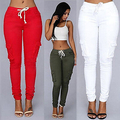 Women's Pencil Stretch Casual Denim Skinny Jeans Pants Jeans Trousers New Trendy
