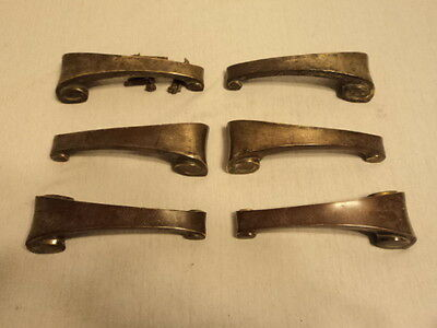 Lot Of 6 Vintage Antique Pull Handles ,dresser Drawer Funiture Hardware Art Deco