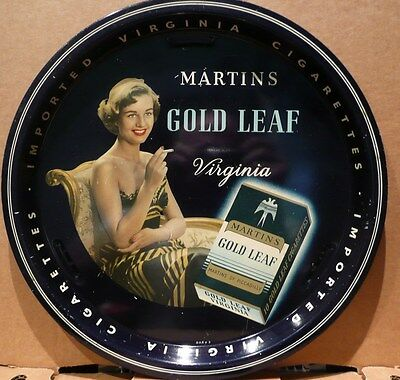 LOVELY ORIGINAL 1950s 60s  MARTINS CIGARETTES SERVING TRAY