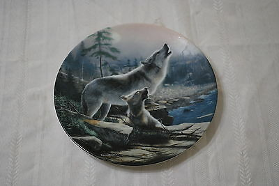 Bradex/ Knowles  Limited Edition Decorative Plate - Howling Lesson - Wolves