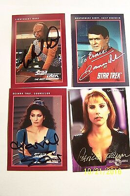 Star Trek MISC Autograph Cards - Lot of 4 Cards