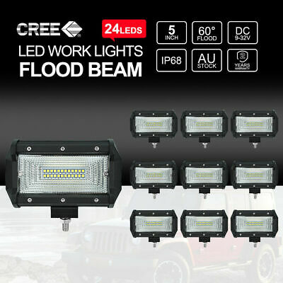 """7""""inch 400W HID Driving Lights Xenon Spotlights Offroad 4X4WD UTE Work Lamps"""