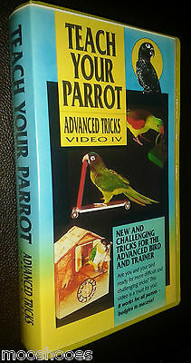 Teach Your Parrot - Advanced Tricks Video IV 4 VHS by Animal Trainer Tani Robar