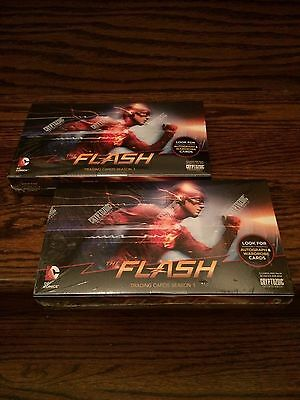 TWO 2016 Cryptozoic The Flash Factory Sealed Trading Card HOBBY Boxes