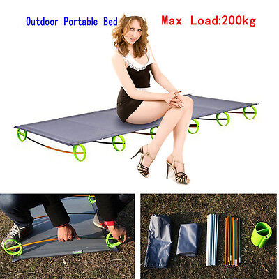 Outdoor Lightweight Folding Bed Portable Lounger Cots Camping Hiking Picnic BEST