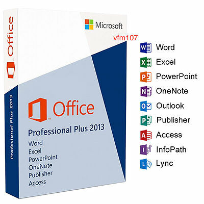 MICROSOFT OFFICE Professional Plus 2013 for WINDOWS - ONE LIFETIME PC LICENCE