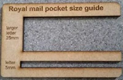 Royal Mail PPI  Size Guide Post Office Postal Price Postage pocket  Template