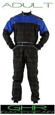 New Go Kart Adult Race Suits Blue Any Size 54 – 60 GHR Racer Motor Sport Racing