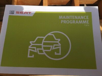 Used Genuine Seat Service History Book