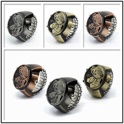 Hot Character Vintage Women Men Retro Conan Pattern Finger Ring Quartz Watchs