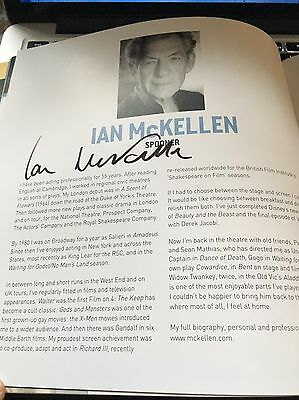 Ian Mckellen Signed No Man's Land Theatre  Programme Lord Of The Rings