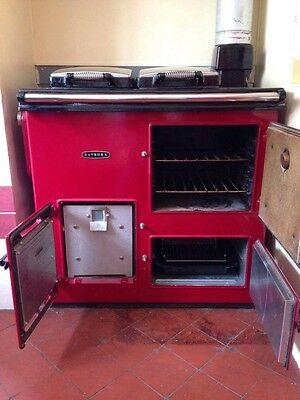 Red Rayburn Gas Cooker
