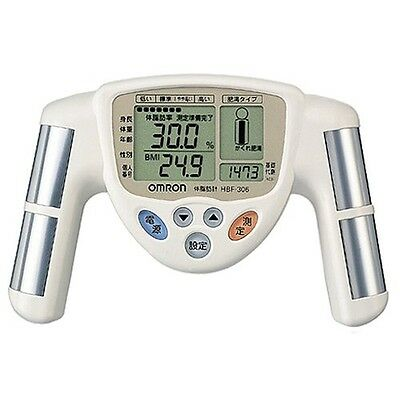 OMRON Body fat meter HBF-306-W White JAPAN