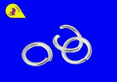500 Silver Plated 6 mm Strong Open Jump Rings (1mm)