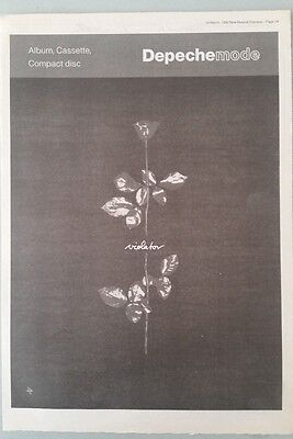 DEPECHE MODE VIOLATOR ORIG NME 1990 Magazine Advert Poster Size #