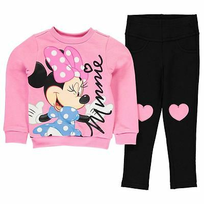 Disney Minnie Mouse Girls 2 Piece Sweatshir & Jegging Set/outfit 2-8 Years