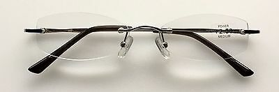 A94 High Quality Rimless Reading Glasses & Spring Hinges & Classic Style Design