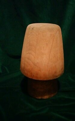 Antique Vintage Wooden Hat Cap Millinery Block Wood Form Hat Making Hutform 27