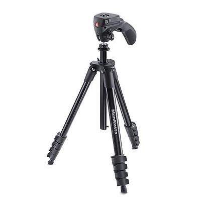 Manfrotto Compact Action Treppiede + Testa Foto In Alluminio 82855