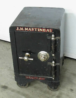 19th Century Barber's Safe 18'' x 12 1/2'' x 11 1/2''