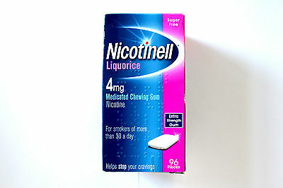 Nicotinell Liquorice 4mg Medicated Extra Strength Chewing Gum - 96 Pieces