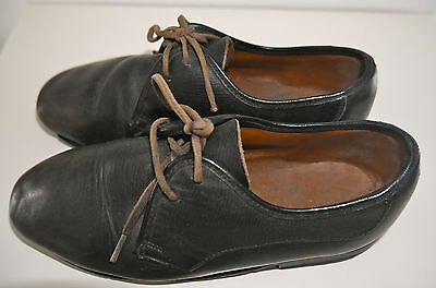 Beautiful Antique Leather Children's Shoes 19th Century Rare Victorian Era Black