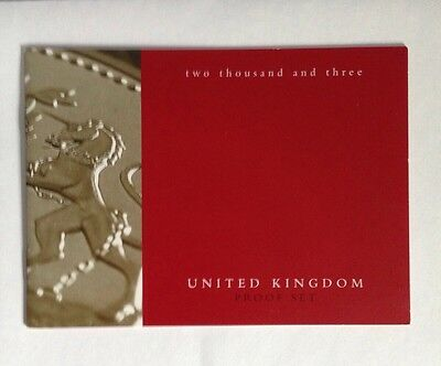 Proof Set Coin Set COA Certificate Of Authenticity Booklet 2003