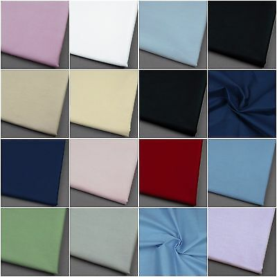 250cm Extra Wide 100% Cotton Fabric Sheeting Plain Solid Colours per metre 98""