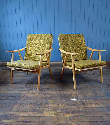 Vintage French Mid Century TON Chair Easy Armchair Lounge Chair CAN DELIVER