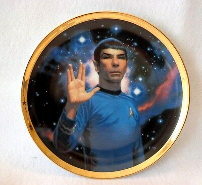"STAR TREK 25th ANNIVERSARY PLATE OF ""SPOCK"" -  HAMILTON COLLECTION # 0369K"