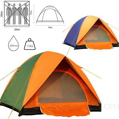 Hiking Outdoor Camping 3-4 Berth person Wild Double Layer Easy Pitch Winter Tent