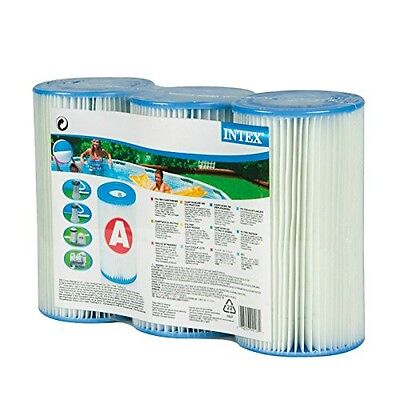 INTEX Intex Type A Filter Cartridge for Pools, Three Pack