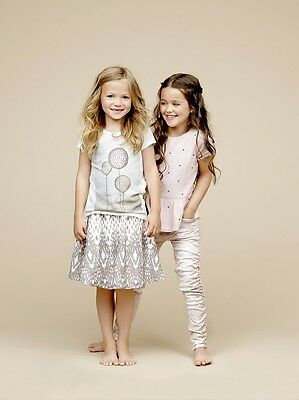"""BNWT """"Creamie"""" GIRLS PRINTED TWO LAYERED COTTON SKIRT from DENMARK, AGE 7 YEARS"""