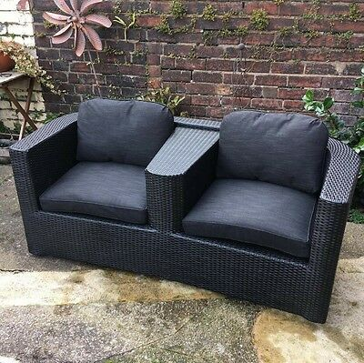 Rattan 2 Seater Sofa - Ideal For Garden Or Conservatory