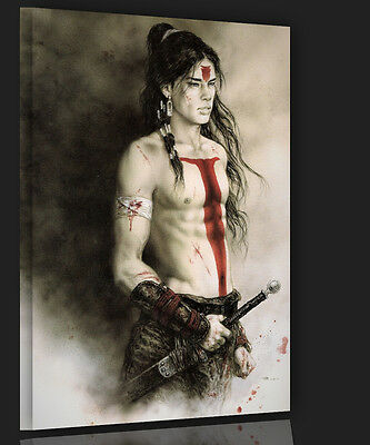 Fantasy Indianer Fine art Bild Luis Royo 50x70 The warrior Action canvas  F33