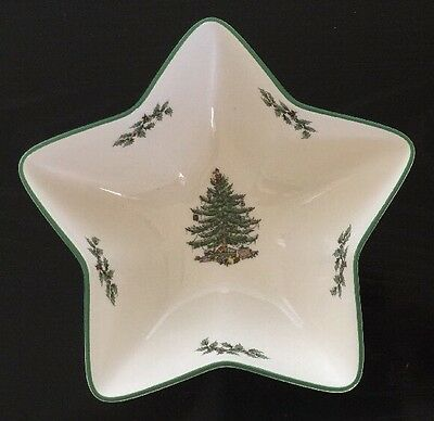 """Spode """"Christmas Tree"""" Star Shaped  Candy Dish/Bowl S3324-A2"""