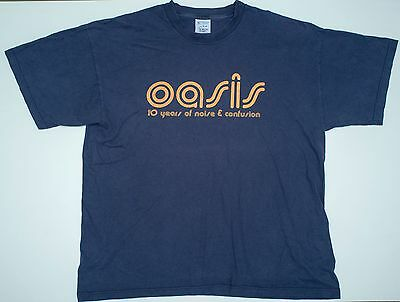 Vintage OASIS 10 years of noise and confusion tour size XL, Britpop band
