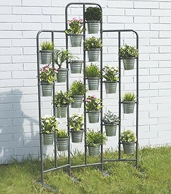 BGT Tall Metal Plant Planter Stand 20 Tiers Display Plants Indoor or Outdoors on