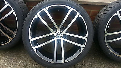 VW golf mk7 gtd type alloy wheels and tyres NEW!