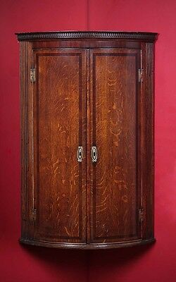 Antique Georgian Oak Corner Cupboard c.1800