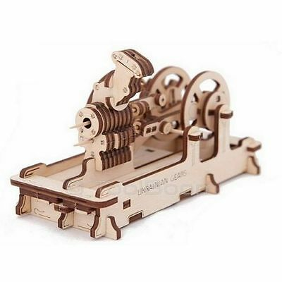 Pneumatic ENGINE UGEARS 3D Mechanical Wooden Model for self-assembly