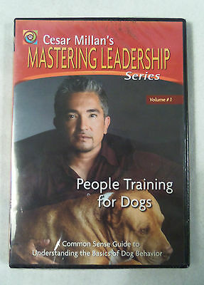 Cesar Milan's Mastering Leadership: People Training for Dogs (DVD, 2005) NEW