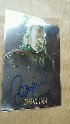 Lords Of The Ring The Trilogy: Bernard Hill Signed Autograh  Chrome By Topps.