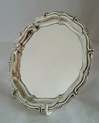 A sterling silver Chippendale Design Salver.Chester 1939.By S Blanckensee & Sons