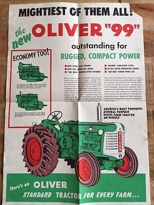 """Dealership poster oliver 99 with a GM diesel """"The mightiest of them all"""""""