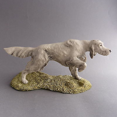 English Setter Dog Figurine Ornament Heredities signed Spouse